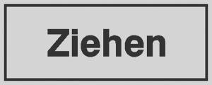 Türschild Ziehen, einseitig, selbstklebende Folie (Ausführung: Türschild Ziehen, einseitig, selbstklebende Folie (Art.Nr.: 28.5363))