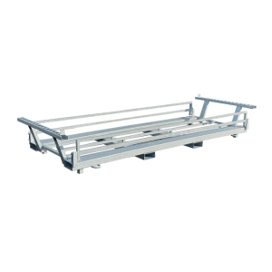 Twinpalette für Bauzäune und Bauzaunfüße, für Lagerung u. Transport v. Bauzäunen u. Fußplatten (Modell/Maße(BxH)/Gewicht:  <b>Twinpalette 15</b><br>für 15 Bauzäune und 15 Füße<br>840x520 mm /