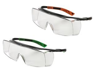 Überbrille -5X7- aus Polycarbonat, für Brillenträger, verschiedene Varianten (Scheibenbeschichtung/Rahmenfarbe:  <b>Standard</b>/ schwarz-orange (Art.Nr.: 36988))