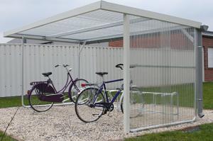 Überdachungssystem -Doris-, doppelseitig, mit PVC-Regenrinne und Fallrohr
