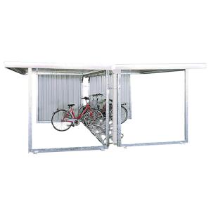 Überdachungssystem -Hermes-, doppelseitig, mit PVC-Regenrinne und Fallrohr