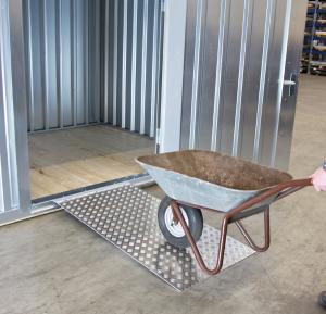 Überfahrbrücke aus Aluminium, Tragkraft 1000 kg, verschiedene Größen (Maße (LxB): 1500 x 750 mm (Art.Nr.: 31955))