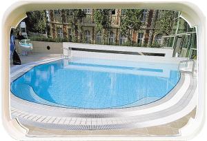 Überwachungsspiegel Aquamir® für Schwimmbäder, 1000 x 800 mm (Montage/Gewicht: Innen/8 kg (Art.Nr.: 32800))