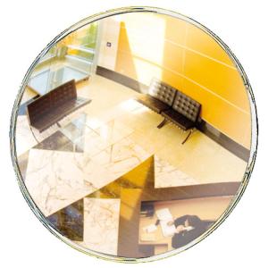 Überwachungsspiegel Decorativ, unzerbrechlich (Durchmesser/Max. Beobachterabstand/Gewicht/Halterung: Ø 300mm/ca. 2m/1 kg<br>feste Halterung</b> (Art.Nr.: 32761))