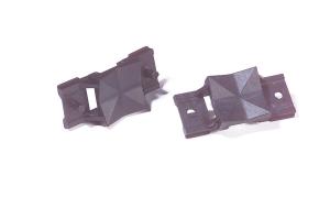Universaladapter für Schilderträger und Profilschienen aus ABS -Kennflex- (Variante: ohne Nietdorn<br>(seperate Nieten erforderlich) (Art.Nr.: 90.3920))