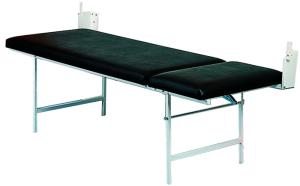 Untersuchungsliege, 2000 x 700 mm, Wandhalterung, optional verstellbares Kopf- und Fußteil (Modell: zweiteilig<br>mit verstellbarem Kopfteil (Art.Nr.: 29034))