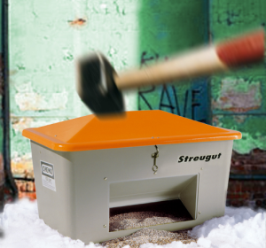 Vandalismusdeckel für Streugutbehälter -CEMO- zur Nachrüstung (Ausführung für Größe: 400 Liter  (Art.Nr.: 13909))