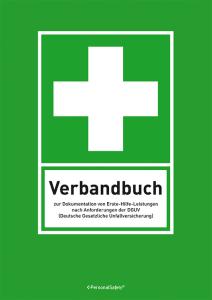 Verbandbuch mit vorgedruckten Spalten, DIN A5 oder DIN A4 (Format: DIN A5 (Art.Nr.: 90.7515))