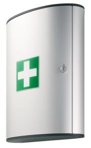 Verbandschrank -First Aid Box- aus Aluminium, mit Inhalt nach DIN 13157, 300 x 400 x 118 mm (Ausführung: Verbandschrank -First Aid Box- aus Aluminium, mit Inhalt nach DIN 13157, 300 x 400 x 118 mm (Art.Nr.: 24868))