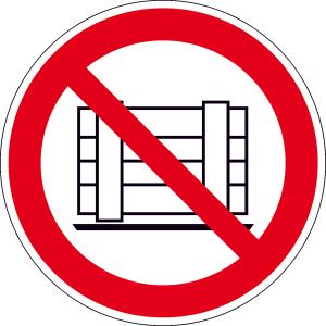 Verbotsschild, Abstellen oder Lagern verboten (Maße(Ø)/Material : 200 mm / Alu, geprägt (Art.Nr.: 11.0877))