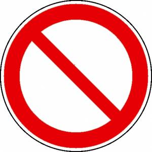 Verbotsschild, Allgemeines Verbotszeichen (Maße(Ø)/Material: 100mm/Folie,selbstklebend (Art.Nr.: 21.0871))