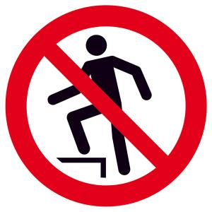 Verbotsschild, Auf die Fläche steigen verboten (Maße(Ø)/Material: 200mm / Folie, selbstklebend (Art.Nr.: 21.a6195))