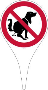 Verbotsschild-Erdspieß, Hier kein Hundeklo (Ausführung: Verbotsschild-Erdspieß, Hier kein Hundeklo (Art.Nr.: 50.0494))