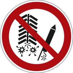 Verbotsschild, Feuerwerkskörper zünden verboten (Ausführung: Verbotsschild, Feuerwerkskörper zünden verboten (Art.Nr.: 51.a6368))