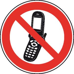 Verbotsschild, Foto-Handy benutzen verboten (Ausführung: Verbotsschild, Foto-Handy benutzen verboten (Art.Nr.: 21.1166))