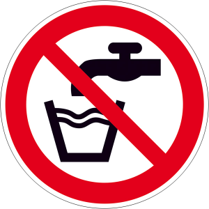 Verbotsschild, Kein Trinkwasser (Maße(Ø)/Material: 50mm/Folie/6er-Bogen (Art.Nr.: 30.a6051))