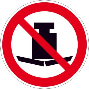 Verbotsschild, Keine schwere Last (Maße(Ø): 100 mm (Art.Nr.: 21.a6125))