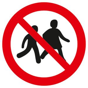 Verbotsschild, Kinder verboten (Ausführung: Verbotsschild, Kinder verboten (Art.Nr.: 21.a6300))