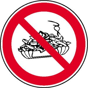 Verbotsschild, Mitnahme von Speisen verboten (Ausführung: Verbotsschild, Mitnahme von Speisen verboten (Art.Nr.: 21.0997))