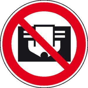 Verbotsschild, Nicht abdecken (Ausführung: Verbotsschild, Nicht abdecken (Art.Nr.: 30.0473))