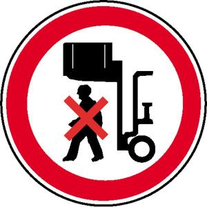 Verbotsschild, Nicht unter angehobene Last treten (Ausführung: Verbotsschild, Nicht unter angehobene Last treten (Art.Nr.: 11.0964))