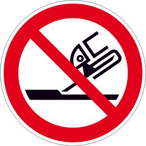 Verbotsschild, Nicht zulässig für Seitenschleifen (Ausführung: Verbotsschild, Nicht zulässig für Seitenschleifen (Art.Nr.: 21.a6275))