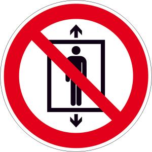 Verbotsschild, Personenbeförderung verboten (Maße(Ø)/Material: 100mm / Folie, selbstklebend (Art.Nr.: 21.a6170))