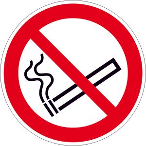 Verbotsschild, Rauchen verboten, zur Innenverklebung hinter Glas (Maße(Ø)/Form: 50 mm/6er-Bogen (Art.Nr.: 30.a6024))
