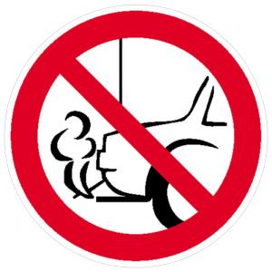 Verbotsschild, Verbot, mit dem Auspuff zur Wand zu parken (Ausführung: Verbotsschild, Verbot, mit dem Auspuff zur Wand zu parken (Art.Nr.: 11.1010))