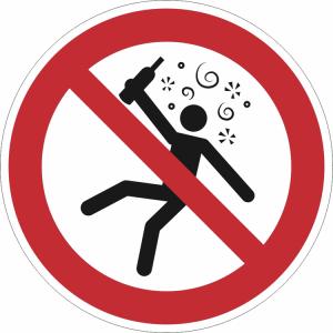 Verbotsschild, Verboten für Menschen im Rauschzustand (Ausführung: Verbotsschild, Verboten für Menschen im Rauschzustand (Art.Nr.: 21.a6370))