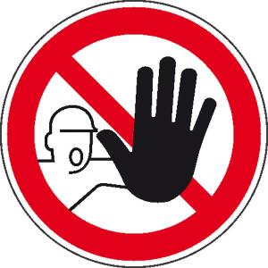 Verbotsschild -Zutritt für Unbefugte verboten- (Maße(Ø)/Material: 25 mm / Folie, 500er-Rolle (Art.Nr.: 31.a6340))