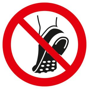 Verbotsschild, metallbeschlagenes Schuhwerk verboten (Ausführung: Verbotsschild, metallbeschlagenes Schuhwerk verboten (Art.Nr.: 21.a6290))