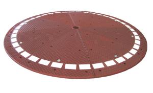 Verkehrsinsel mit Retroreflektoren, 3000 x 3000 mm, inkl. Montagematerial (Farbe/Kleber:  <b>schwarz</b><br>ohne 2-KomponentenKleber (Art.Nr.: 24199))