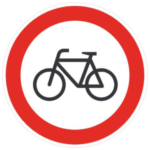 Verkehrsschild, Für Radfahrer verboten (Maße Ø : 200 mm (Art.Nr.: 11.5655))