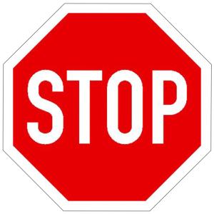 Verkehrsschild, Halt! Vorfahrt gewähren (Maße (BxH): 300 x 300 mm (Art.Nr.: 11.5265))