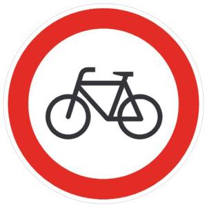 Verkehrsschild, Verbot für Radfahrer (Maße Ø : 200 mm (Art.Nr.: 11.5655))
