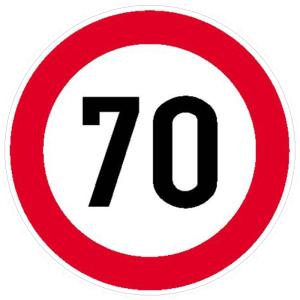 Verkehrsschild, Zulässige Höchstgeschwindigkeit (individuelle Geschwindigkeit nach Angabe) (Maße Ø : 315 mm (Art.Nr.: 11.5262))