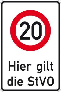 Verkehrsschild, Zulässige Höchstgeschwindigkeit ... km / h (individuelle Geschwindigkeitsangabe) (Ausführung: Verkehrsschild, Zulässige Höchstgeschwindigkeit ... km/h (individuelle Geschwindigkeitsangabe) (Art.Nr.: 11.5834))