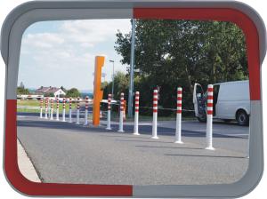 Verkehrsspiegel -OUTDOOR- aus Acrylglas (Maße (BxH): 600 x 400 mm (Art.Nr.: 34797))