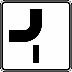 Verkehrszeichen 1002-14 StVO, Verlauf der Vorfahrtstraße (Maße/Folie/Form:  <b>420x420mm</b>/RA1/Flachform 2mm (Art.Nr.: 1002-14-111))