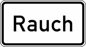 Verkehrszeichen 1007-31 StVO, Rauch (Maße/Folie/Form:  <b>231x420mm</b>/RA1/Flachform 2mm (Art.Nr.: 1007-31-111))