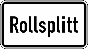 Verkehrszeichen 1007-32 StVO, Rollsplitt (Maße/Folie/Form:  <b>231x420mm</b>/RA1/Flachform 2mm (Art.Nr.: 1007-32-111))