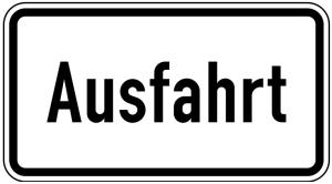 Verkehrszeichen 1007-37 StVO, Ausfahrt (Maße/Folie/Form:  <b>231x420mm</b>/RA1/Flachform 2mm (Art.Nr.: 1007-37-111))