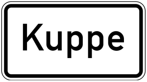Verkehrszeichen 1007-57 StVO, Kuppe (Maße/Folie/Form:  <b>231x420mm</b>/RA1/Flachform 2mm (Art.Nr.: 1007-57-111))
