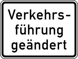 Verkehrszeichen 1008-31 StVO, Verkehrsführung geändert (Maße/Folie/Form:  <b>315x420mm</b>/RA1/Flachform 2mm (Art.Nr.: 1008-31-111))