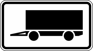 Verkehrszeichen 1010-12 StVO, Kennzeichnung von Parkflächen für Anhänger länger als 14 Tage (Maße/Folie/Form:  <b>231x420mm</b>/RA1/Flachform 2mm (Art.Nr.: 1010-12-111))
