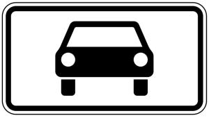 Verkehrszeichen 1010-50 StVO, Kraftwagen und sonstige mehrspurige Fahrzeuge (Maße/Folie/Form:  <b>231x420mm</b>/RA1/Flachform 2mm (Art.Nr.: 1010-50-111))