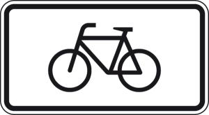 Verkehrszeichen 1010-52 StVO, Nur Radverkehr (Maße/Folie/Form:  <b>231x420mm</b>/RA1/Flachform 2mm (Art.Nr.: 1010-52-111))