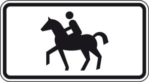 Verkehrszeichen 1010-54 StVO, Reiter (Maße/Folie/Form:  <b>231x420mm</b>/RA1/Flachform 2mm (Art.Nr.: 1010-54-111))