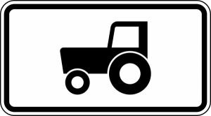 Verkehrszeichen 1010-61 StVO, Kraftfahrzeuge und Züge bis 25 km / h (Maße/Folie/Form:  <b>231x420mm</b>/RA1/Flachform 2mm (Art.Nr.: 1010-61-111))